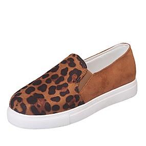 voordelige Damesinstappers & loafers-Dames Loafers & Slip-Ons Platte hak Ronde Teen PU Informeel / minimalisme Lente & Herfst / Herfst winter Zwart / Bruin