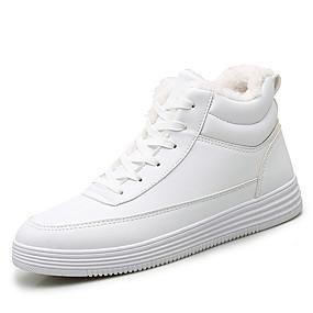 voordelige Damessneakers-Dames Sneakers Creepers Ronde Teen Microvezel Informeel Wandelen Winter Zwart / Wit
