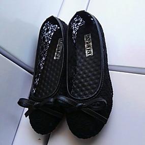 voordelige Damesinstappers & loafers-Dames Loafers & Slip-Ons Platte hak Ronde Teen PU Zomer Zwart / Amandel / Blauw