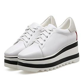 voordelige Damessneakers-Dames Sneakers Platte hak Ronde Teen Netstof Herfst winter Zwart / Wit / Rood
