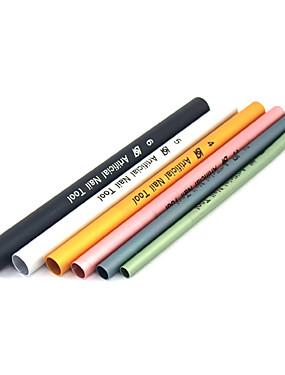 voordelige Ander Gereedschap-6pcs Alumiiniseos Nail Art Tool Nail Art Kit Voor Vingernagel Teennagel Gelkwast Duurzaam Nagel kunst Manicure pedicure Gepersonaliseerde