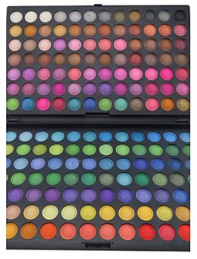 tanie Oczy-168 kolorów Cienie do powiek / Pudry Oko Matowy / Migotać / Połysk / przydymiony Makijaż imprezowy Makijaż Kosmetyk