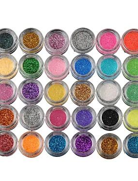 tanie Oczy-30 kolorów Cienie do powiek / Pudry Oko Matowy / Migotać / Połysk / przydymiony Makijaż imprezowy Codzienny Kosmetyk