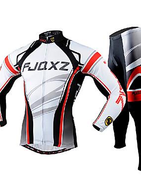 327cc11a4a baratos Esporte & Lazer-FJQXZ Homens Manga Longa Calça com Camisa para  Ciclismo Branco