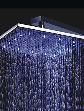 billige Hjem & Hage-Moderne Regndusj Krom Trekk - Regnfall LED, dusjhode