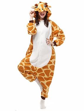 7b123610f6d Dospělé Pyžama Kigurumi Žirafa Pyžamo Onesie Flanel Fleece Oranžová Cosplay  Pro Dámy a pánové Animal Sleepwear Karikatura Festival   Svátek Kostýmy