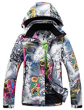 abordables Deportes y Ocio-GQY® Mujer Chaqueta de Esquí Impermeable Mantiene abrigado Resistente al Viento Esquí Deportes de Invierno Poliéster Chaqueta de Invierno Ropa de Esquí
