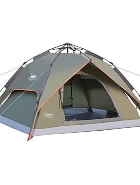 povoljno Sport és outdoor-DesertFox® 3 osobe Automatski šator Vanjski Vodootporno UV otporan Dvaput Slojeviti Automatski Dome šator za kampiranje 2000-3000 mm za Camping & planinarenje Putovanje Outdoor Oksford 240*210*130 cm
