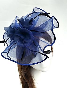 ราคาถูก งานแต่งงาน-ตูเล่ / ขนนก / สุทธิ Kentucky Derby Hat / fascinators / หมวก กับ 1 งานแต่งงาน / โอกาสพิเศษ หูฟัง
