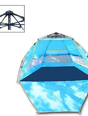povoljno Sport és outdoor-4 osobe Automatski šator Vanjski Otporno na kišu Camping & planinarenje Ultraviolet Resistant Jednostruki sloj šator za kampiranje 1000-1500 mm za Camping & planinarenje Polyester Taffeta