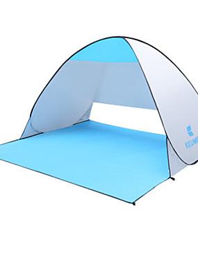 povoljno Sport és outdoor-KEUMER 2 osobe Strandsátor Vanjski Otporno na kišu Prašinu Jednostruki sloj šator za kampiranje 1500-2000 mm za Camping & planinarenje Poly / Cotton Umjetna koža / Polyurethane Leather Poliester