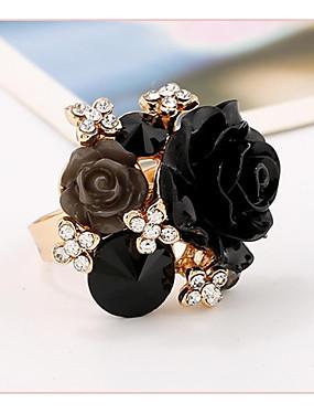 billige Fashion Rings-Dame Håndledd Ring Grønn / Blå / Marineblå Harpiks / Rosa perle Geometrisk Form damer Bryllup / Fest / Gave Kostyme smykker