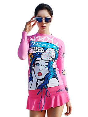 ieftine Sport i aktivnosti na otvorenom-SABOLAY Pentru femei Elastan Protecție UV la soare Rezistent la Ultraviolete Manșon Lung Înot Design Special Modă Toate Sezoanele