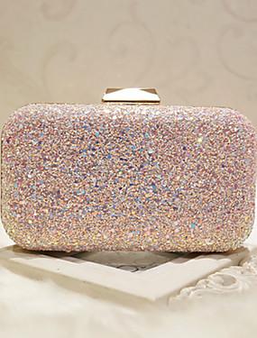 povoljno Vjenčanja i eventi-Žene Šljokice Večernja torbica Večer Bag Eko koža Obala / Blushing Pink / Vjenčane torbe / Vjenčane torbe
