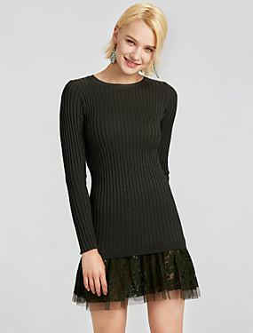 0ae940eeea6c Γυναικεία Βαμβάκι Πολύ στενό Πλεκτά Φόρεμα - Patchwork