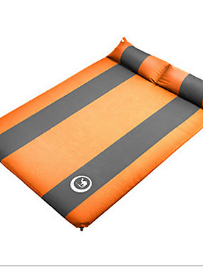 ieftine Sport i aktivnosti na otvorenom-Shamocamel® Self-Inflating Sleeping Pad Pad Aer În aer liber Portabil Rezistent la umezeală Pliabil Compact Terilenă Material impermeabil PVC Prelată 190*132*3.5 cm Camping / Cățărare / Speologie