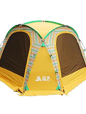 povoljno Sport és outdoor-Sheng yuan 8 osoba Šator Vanjski Zaštita od sunca Sklapanje Jednostruki sloj šator za kampiranje 1500-2000 mm za Camping & planinarenje Ribolov Piknik Oxford tkanje 350*350*230 cm
