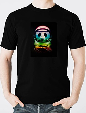 tanie Kostiumy karnawałowe-T-shirty LED Lśnienie Czysta bawełna DOPROWADZIŁO / Na co dzień 2 baterie AAA