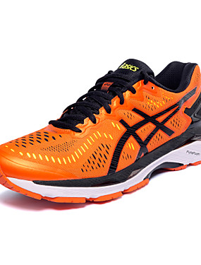 cheap Running & Trail-ASICS GEL-KAYANO 23 Men's Running Shoes Sneakers EVA Running Trainer Wearable Synthetic leather Black Orange Green / Black