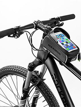 povoljno Sport és outdoor-Mobitel Bag 6 inch Touch Screen Zamišljen Vodootporno Biciklizam za iPhone 8/7/6S/6 iPhone X Samsung Galaxy S8+ / Note 8 Crn Biciklizam / Bicikl / iPhone XR / iPhone XS / iPhone XS Max / Prijenosno