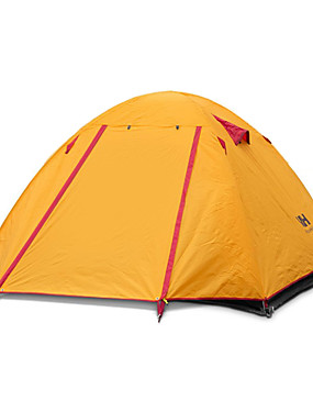 cheap Sports & Outdoors-Naturehike 4 person Backpacking Tent Outdoor Portable Windproof Well-ventilated Double Layered Poled Dome Camping Tent >3000 mm for Hunting Camping Traveling Silicone Canvas Aluminium 210*210*135 cm