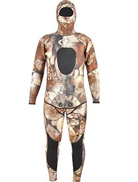 povoljno Sport és outdoor-YON SUB Muškarci Dugo mokro odijelo 7mm SCR Neopren Ronilačka odijela Rastezljiva Dugih rukava Povratak Zipper 2 dijela kamuflaža Pasti Proljeće Ljeto / Rastezljivo