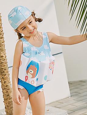 ieftine Sport i aktivnosti na otvorenom-SABOLAY Fete Costum Scufundări din Piele Spandex Costume de Baie Fără manșon Înot Exerciții exterior Sporturi Acvatice Mată Desene Animate Literă & Număr Primăvară Vară / Strech