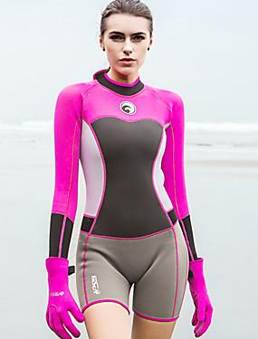 povoljno Sport és outdoor-HISEA® Žene Kratko mokro odijelo 1.5mm SCR Neopren Ronilačka odijela Rastezljiva Dugih rukava Povratak Zipper Moda