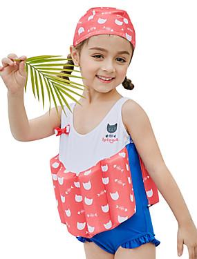 ieftine Sport i aktivnosti na otvorenom-SABOLAY Fete Costum Scufundări din Piele Spandex Costume de Baie Fără manșon Înot Exerciții exterior Sporturi Acvatice Mată Desene Animate Desene 3D Primăvară Vară / Strech