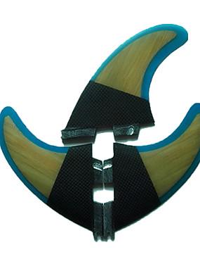billige Sport og friluftsliv-Srfda Surfefinner G5 FCS II Base Glass Fiber Senterfinne Venstre Fin Høyre Fin Til SUP surfebrett Longboards Shortboards 3 pcs