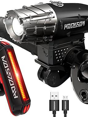 رخيصةأون رياضة والخارجية-LED اضواء الدراجة ضوء الدراجة الأمامي أضواء الذيل دراجة جبلية ركوب الدراجة ضد الماء محمول سريع الإصدار li-بوليمر 200 lm Camping / Hiking / Caving / وسائط متعددة