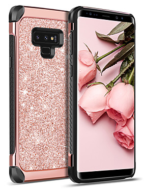 billige Bentoben-BENTOBEN Etui Til Samsung Galaxy Note 9 Støtsikker / Belegg / Glitter Bakdeksel Ensfarget / Glimtende Glitter Hard PU Leather / TPU / PC til Note 9