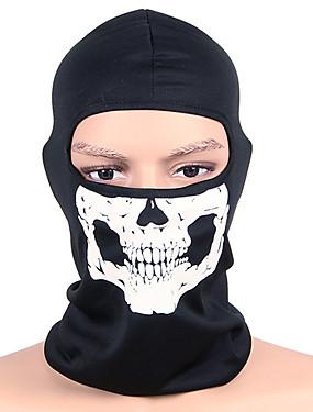 ieftine Sport i aktivnosti na otvorenom-cagule Face Mask Bărbați Pentru femei Camping & Drumeții Vânătoare Alpinism Bicicletă / Ciclism Keep Warm Rezistent la Vânt Uscare rapidă Iarnă Cranii Negru și Alb M / Strech / Ciclism montan