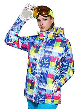 billige Sport og friluftsliv-Wild Snow Dame Skijakke Vindtett Varm Ventilasjon Ski & Snowboard Multisport Snøsport Polyester Netting Dunjakker Skiklær / Vinter
