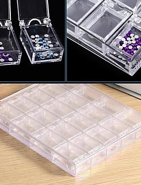 voordelige Ander Gereedschap-1pc Kunststoffen / Ympäristöystävällinen materiaali Nail Art Storage Box Voor Multi Function Nagel kunst Manicure pedicure Modieus Dagelijks