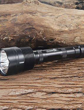 povoljno Sport és outdoor-Trustfire LED svjetiljke LED LED 3 emiteri 2400 lm 5 rasvjeta mode Kampiranje / planinarenje / Speleologija Uporaba Crn