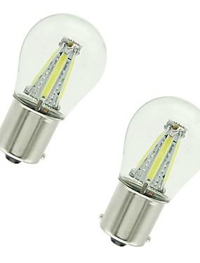abordables Luces de marcha atrás-2pcs 1156 / 1157 Coche Bombillas 4 W COB 300 lm 4 LED Luz de Intermitente / Luces de freno / Luces de marcha atrás (respaldo) Para Universal Todos los Años