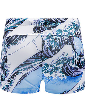 abordables Bañadores de Hombre-Hombre Bleu Ciel Pantalones de bañador Partes Inferiores Bañadores - Geométrico XL XXL XXXL Bleu Ciel