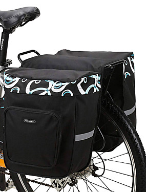 abordables Sports & Loisirs-ROSWHEEL 30 L Sac de Porte-Bagage / Double Sacoche de Vélo Sacs de Porte-Bagage Ajustable Grande Capacité Etanche Sac de Vélo Maille 600D Polyester Sac de Cyclisme Sacoche de Vélo Vélo de Route Vélo