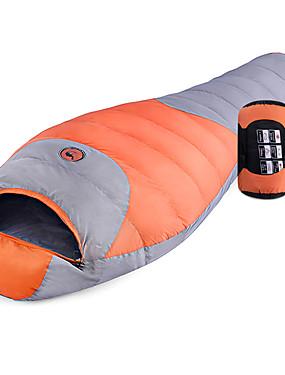 ieftine Sport i aktivnosti na otvorenom-Shamocamel® Sac de dormit În aer liber Sac de Dormit Mumie -10 ~ -5 °C Single Puf de Rață Impermeabil Keep Warm Ultra Ușor (UL) Compresie 220*80 cm Toamnă Iarnă pentru Drumeție Camping Exterior