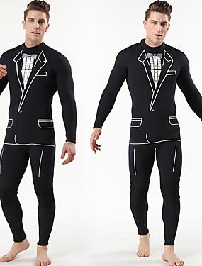 povoljno Sport és outdoor-MYLEDI Muškarci Dugo mokro odijelo 3mm SCR Neopren Ronilačka odijela Vjetronepropusnost Anatomski dizajn Rastezljiva Dugih rukava Povratak Zipper Jednobojni Pasti Proljeće Ljeto / Rastezljivo