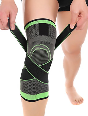 cheap Sports & Outdoors-Knee Brace Knee Sleeve for Basketball Running Fitness Moisture Wicking Compression Stretchy Adjustable Unisex Nylon Lycra Spandex 1 pc Sports & Outdoor Green