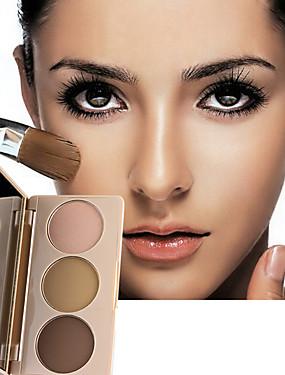 abordables Maquillaje Facial-3 colores Seco Portátil / Casual / Diario Sonrojo China Simple / Portátil Simple / Con Tapa / Portátil Formal / Ropa Cotidiana / Casual / Diario Cuadrado Maquillaje Cosmético