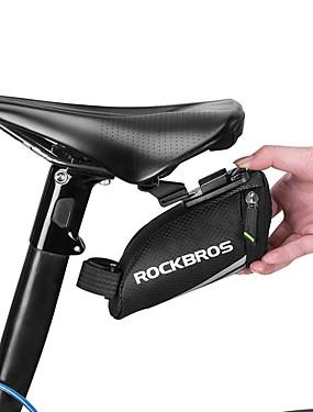 저렴한 스포츠 & 아웃도어-ROCKBROS 자전거 새들 백 반사 경량 미니 자전거 가방 레진 나일론 탄성 고무 싸이클 가방 싸이클 백 도로 자전거 산악 자전거 승마