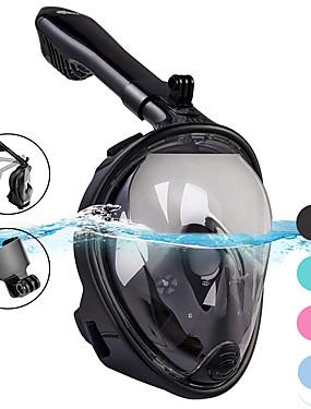 povoljno Sport és outdoor-Ronjenje Maske Maske za cijelo lice Jedan prozor - Plivanje Silikon - Za Odrasli Zelen / 180 stupnjeva / Bez curenja / Anti-Magla / Sprječava ulazak vode