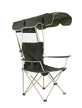 cheap Sports & Outdoors-Camping Chair with Cup Holder Portable Anti-Slip Foldable Comfortable Steel Tube Oxford for 1 person Camping Camping / Hiking / Caving Traveling Picnic Autumn / Fall Spring Dark Green