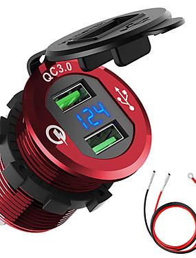 billige Ugentlige tilbud2-bil motorsykkel refitted usb lader mobiltelefon tablett qc3.0 metall rask lading