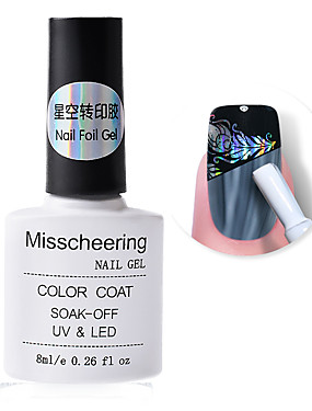 voordelige Ander Gereedschap-nagelfolie zelfklevende lijm 8ml sterrenhemel sticker transfer lijm nail art accessoire geen behoefte aan uithardende UV-lamp