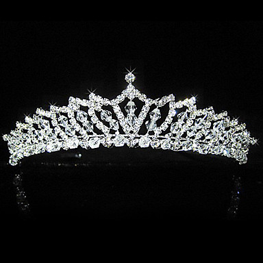 fantastisk høj standard legering med rhinestones bryllup brude tiara