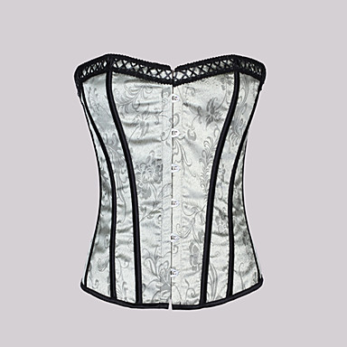 Damask Strapless Front Busk Closure Corsets Special Occasion Shapewear